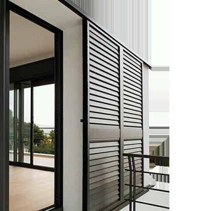 Schiebe Fensterläden alu und pvc fensterläden zielona okiennica